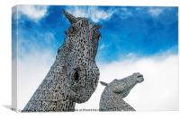 The Kelpies in Helix Park Falkirk Scotland, Canvas Print
