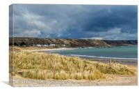Port Eynon Beach Gower Peninsula South Wales, Canvas Print