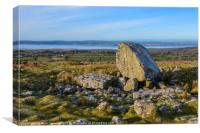 Arthur's Stone Burial Chamber on the Gower , Canvas Print
