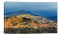 Looking to the Fairfield Horseshoe Lake District, Canvas Print