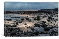 Evening on Llantwit Major Beach South Wales, Canvas Print