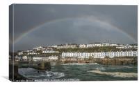 Rainbow over Porthleven, Canvas Print