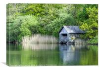 The Boathouse Rydal Water Lake District, Canvas Print