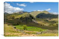 Fells Below Coniston Old Man Lake District, Canvas Print
