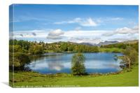 Loughrigg Tarn Lake District in Spring, Canvas Print