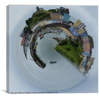 Tenby in one, Canvas Print