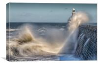 Tynemouth stormy sea!, Canvas Print