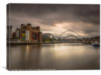 Newcastle Quayside at sunset, Canvas Print