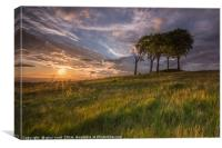 Sunset Over the copt barrow, Canvas Print
