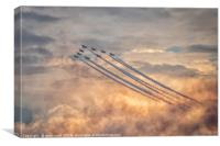 Red Arrows Sunset Show!, Canvas Print