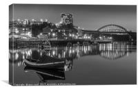 Sunderlands Wearmouth bridge and fish quay, Canvas Print
