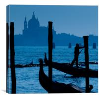 Venice in blue, Canvas Print