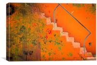 Orange Stairway, Canvas Print