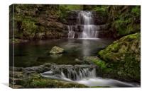 Dinas Rock Waterfalls, Canvas Print