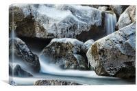 Frozen Falls, Canvas Print