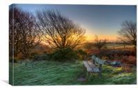 The Winter Sunrise, Canvas Print