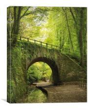 Under the bridge , Canvas Print