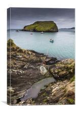 Castle Island, Abercastle, Pembrokeshire, Wale UK, Canvas Print