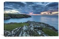 Porthgain Headland Sunset, Pembrokeshire, Wales UK, Canvas Print