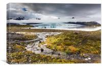 Fjallsárlón Glacial Lagoon in Iceland, Canvas Print