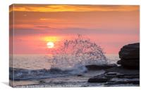 Big Splash at Dunraven Bay, Canvas Print