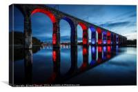Royal Border Bridge, Berwick-Upon-Tweed, Canvas Print