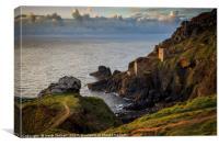 Botallack Tin Mines West Cornwall , Canvas Print
