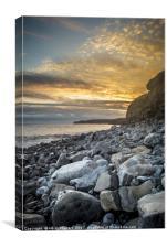 Llantwit Major Beach on a warm Summer's Evening, Canvas Print