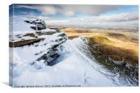 Brecon Beacon Winter Views, Canvas Print