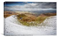 Winter in the Brecon Beacons, Canvas Print