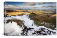 A Snowy Brecon Beacons, Canvas Print