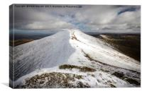 Pen y Fan in Winter, Canvas Print