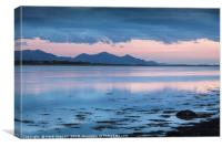 Llyn Peninsular Mountain Outline, Canvas Print