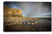 The cliffs and beach at Nash Point, Canvas Print