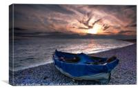Chesil Boat, Canvas Print