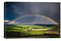 North Poorton Rainbow, Canvas Print