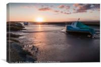 Penclawdd fishing boats., Canvas Print