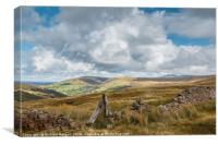 Stone wall in the Brecon Beacons., Canvas Print