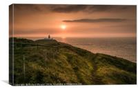 Strumble Head Lighthouse, Pembrokeshire, Wales., Canvas Print
