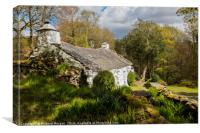 Welsh Cottage in Snowdonia., Canvas Print