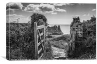 The Great Tor through the gate, Gower South Wales., Canvas Print