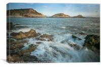 Mumbles Lighthouse, Bracelet Bay, Gower, Canvas Print