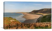Rhossili Bay, Gower, South Wales., Canvas Print