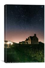 Stars are out at Rhossili, Gower, Canvas Print