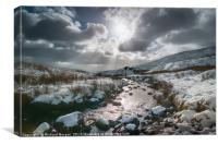 Winter in Brecon Beacons, Canvas Print