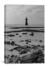 Whiteford Lighthouse, Gower, South Wales., Canvas Print