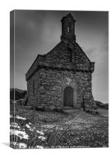 St Nons Chapel, St Davids Pembrokeshire., Canvas Print