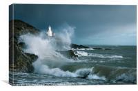 """""""Storm Doris"""" Bracelet Bay, Mumbles, Gower., Canvas Print"""