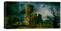 Haunted view, Canvas Print