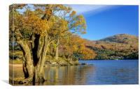 Loch Lomond and Rowardennan, Canvas Print